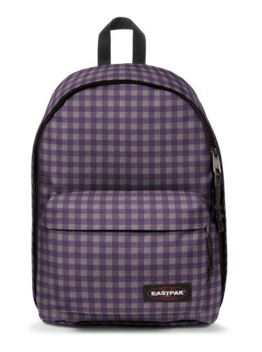 Eastpak Laptop Backpack-Out Of Office-Checksange Purple