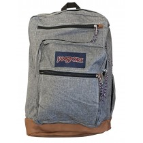 JanSort Cool Student Grey Letterman Backpack